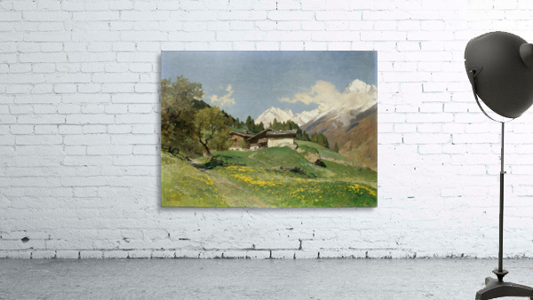 Rural house at the base of Alps