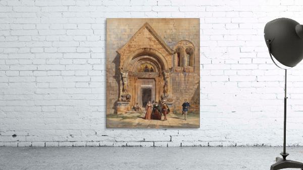 Kirchenportal und Personengruppe 1842