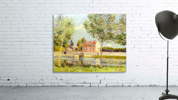 Houses on the banks of the Loing by Sisley