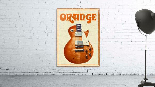 Orange vintage advertising poster