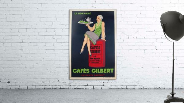 Cafes Gilbert original vintage food poster from France