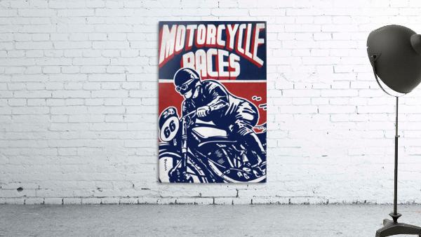 Motorcycle Racing Vintage Poster