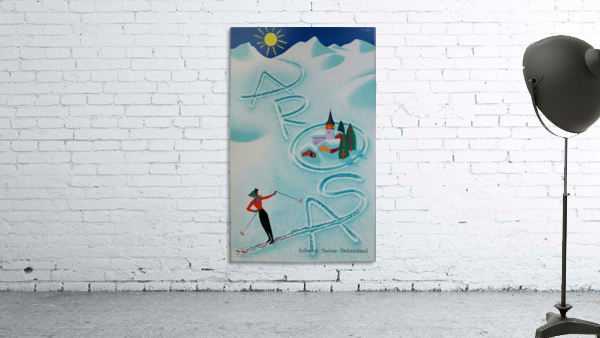 Original vintage poster ski Arosa Suisse