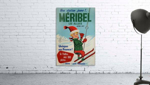 Original vintage poster ski winter sport Meribel