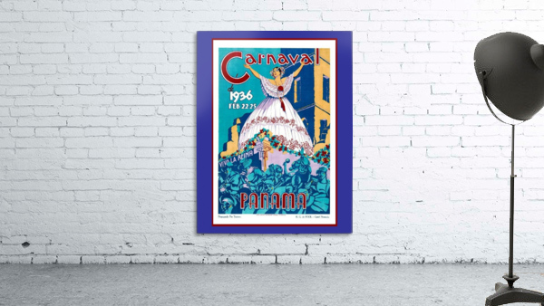 Vintage travel poster for Panama Carnival 1936
