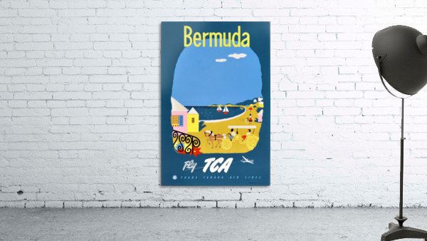 Bermuda Travel Poster for Fly Trans Canada Airline