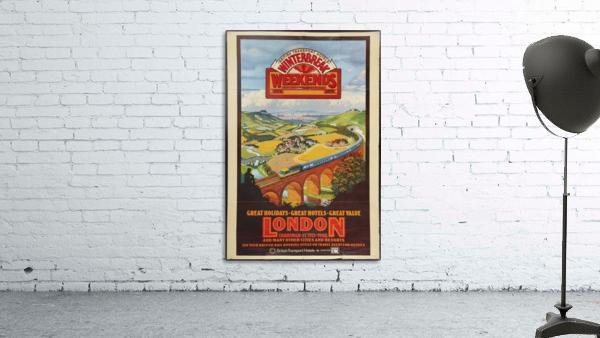 London vintage travel poster for British Railways
