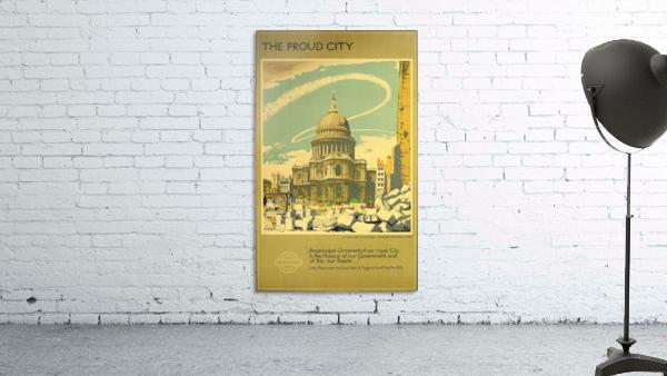 London Underground WW2 vintage poster