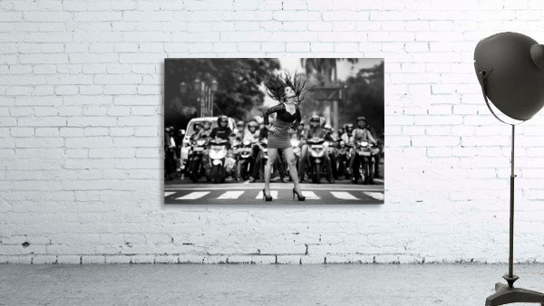 ignore it, enjoy poses on the streets Print
