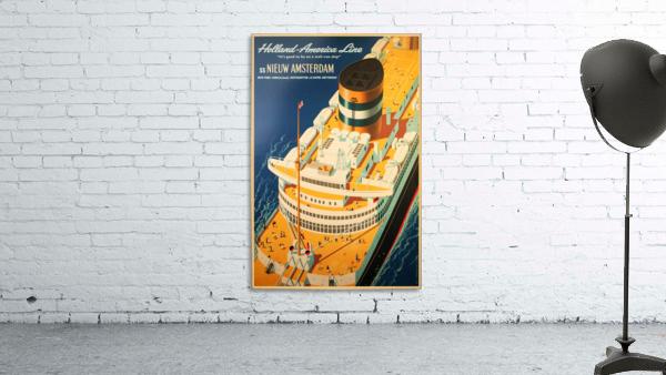 Holland - America Line vintage travel poster