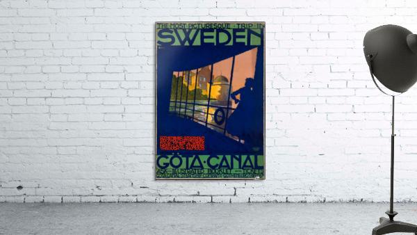 Sweden Gota Canal travel poster