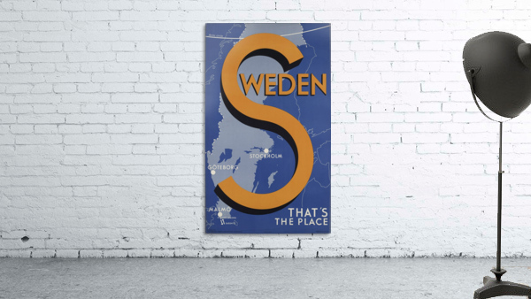 Stockholm Goteborg Malmo Sweden Thats the place vintage poster