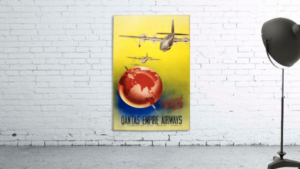 Qantas Empire Airways travel poster 1938