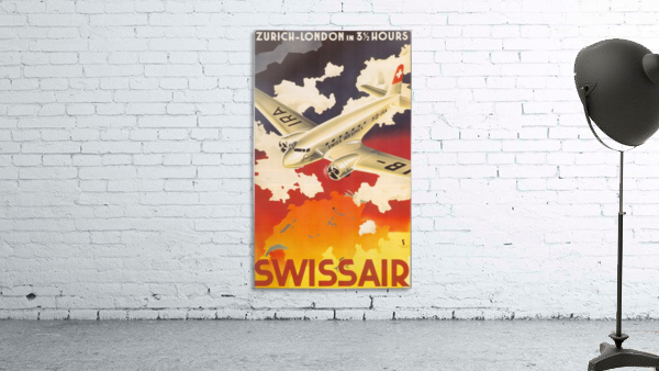 Zurich - London travel poster for Swissair