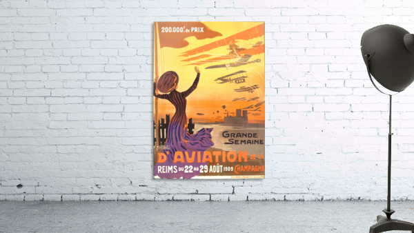 Reims France Aviation Poster Week August 22-29, 1909