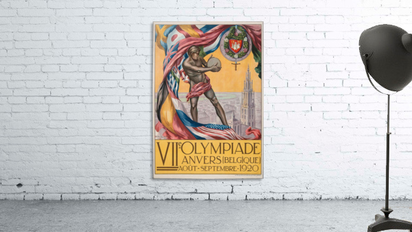 VII Olympiade, Anvers lithographic poster
