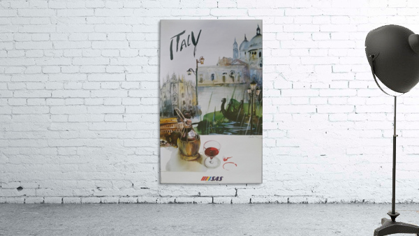 Italy Travel Poster by SAS