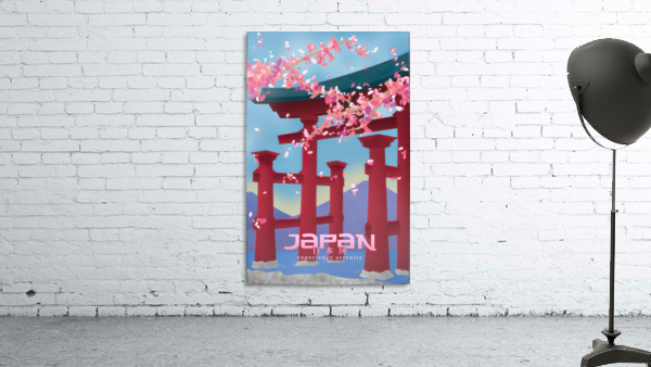 Japan Experience serenity travel poster