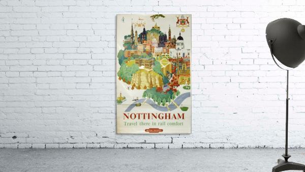 Nottingham vintage travel poster for British Railways