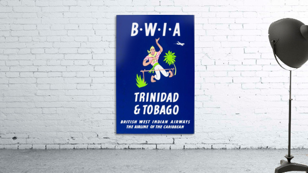 BWIA Trinidad Tobago original travel poster