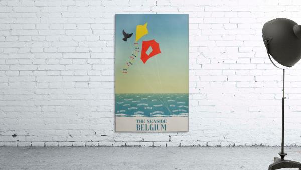 1950 Belgium seaside original travel vintage poster
