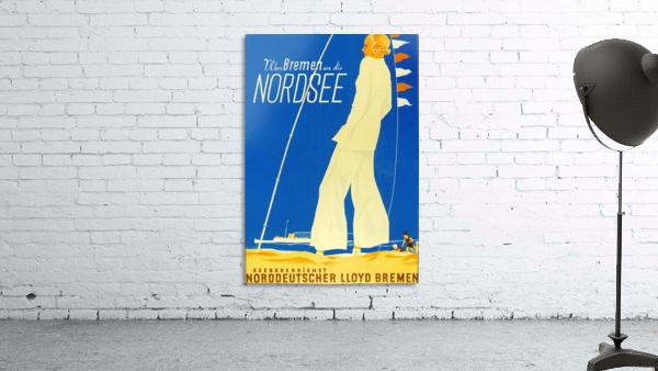 Nordsee vintage German travel poster