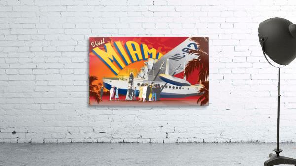 Vectree Vintage Miami Florida travel poster