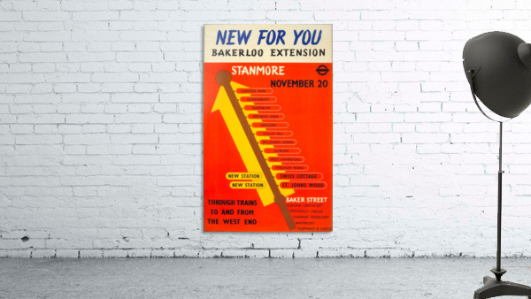 Poster Promoting the Bakerloo Line Extension to Stanmore, 1939