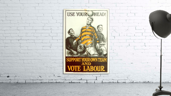 Labour Party Use Your Head 1923 poster