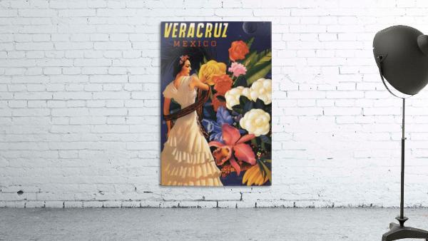 Veracruz Mexico Vintage Tourism Poster, 1940