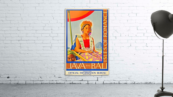 Java and Bali travel poster