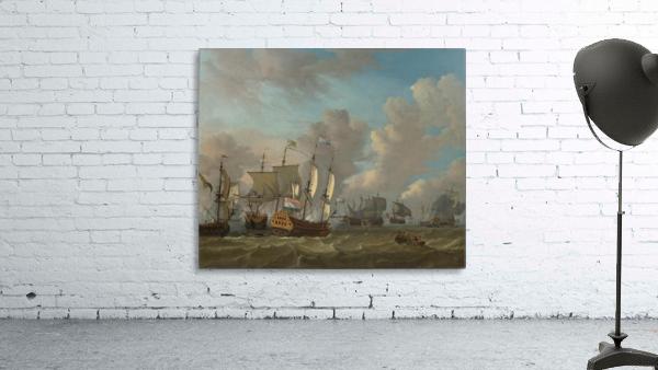 Dutch ships in a naval skirmish