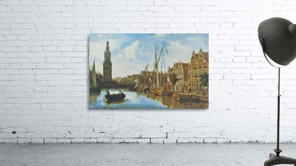 Singel in Amsterdam with the Jan Roodenpoortstoren
