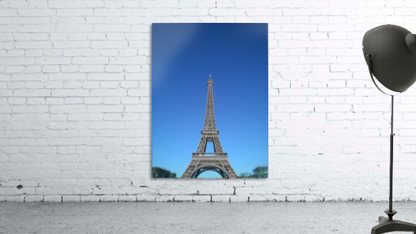 Eiffel tower Paris black and white with color