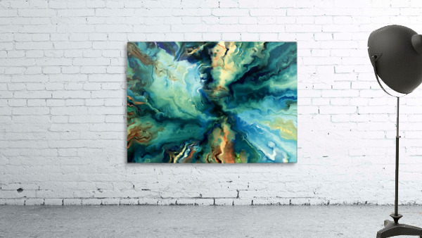 Oil Painting Abstract Color Line Wave Design