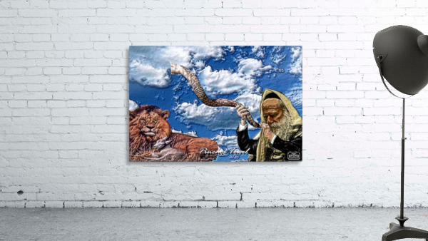 Art   Pinchos   shofar   LION  3D  1