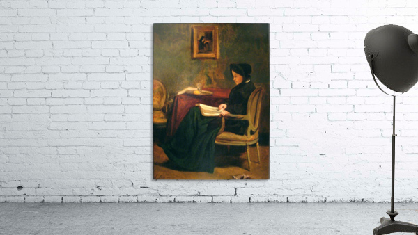 Seated woman reading, 1862