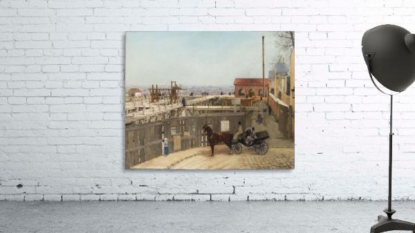 The construction of Sacre-Coeur, Montmartre