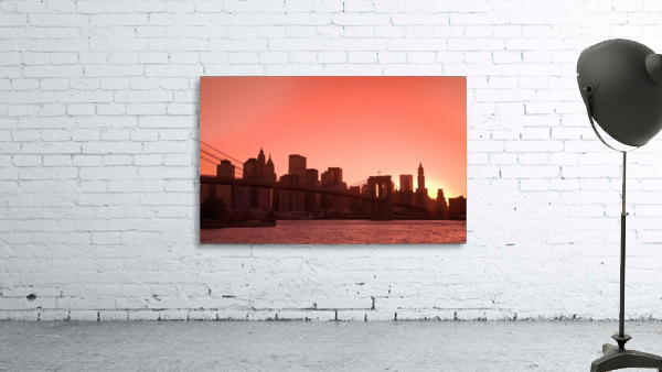 Lower Manhattan Skyline Viewed From Brooklyn Bridge Park, Brooklyn, New York City, New York, Usa