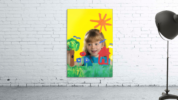Girl Painting On Glass