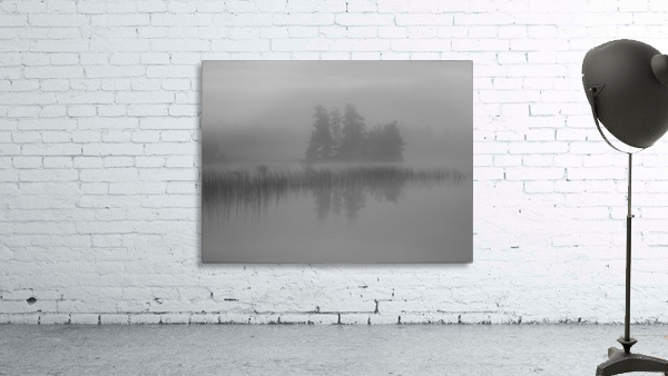 Lake Of The Woods, Ontario, Canada; Mist Rises Over Lake