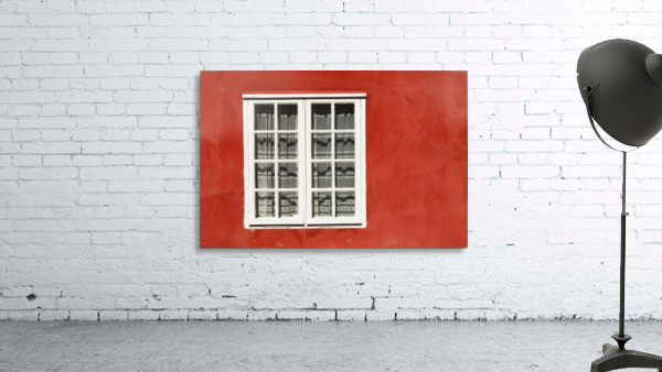 Red Timber House And Window Frame In The Old Town; Porvoo, Finland