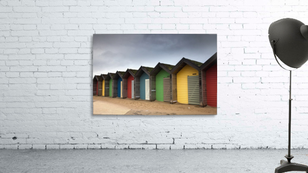 Colourful Beach Huts; Blythe, Northumberland, England