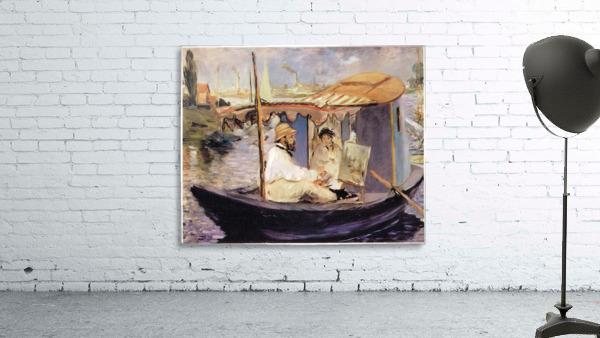 Claude_Monet_dans_son_bateau_atelier_1874 by Manet