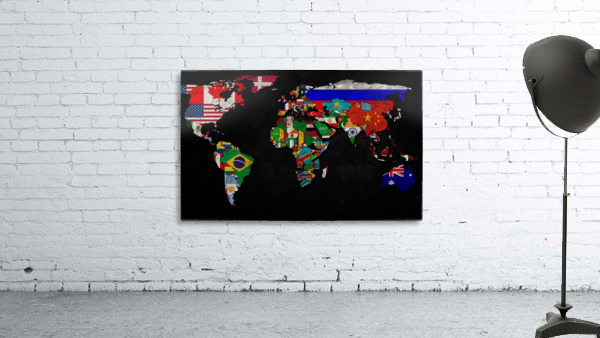 World map country flag worldflag canvas art world map country flag gumiabroncs Image collections