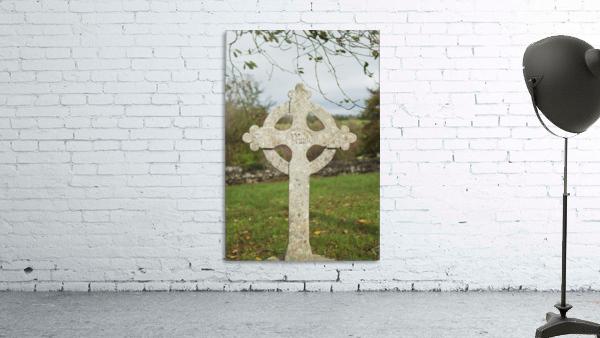 A celtic cross tombstone;Ireland