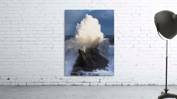 Surf erupts on the rocks at Shore Acres State Park; Charleston, Oregon, United States of America