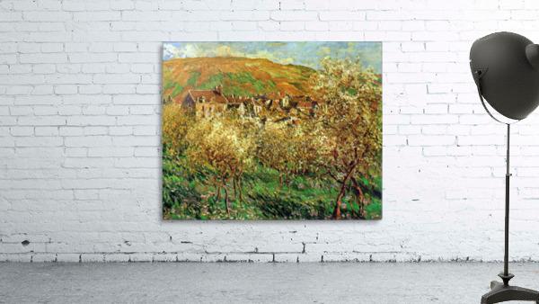 Flowering apple trees by Monet