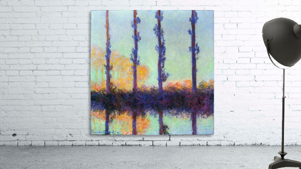 Four poplars by Monet