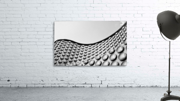 Facade of wall with curve and circle pattern; Las Vegas, Nevada, United States of America
